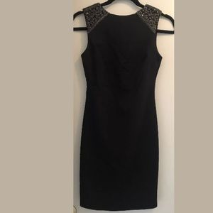 NWT Zara beaded low back cocktail lbd dress Xs